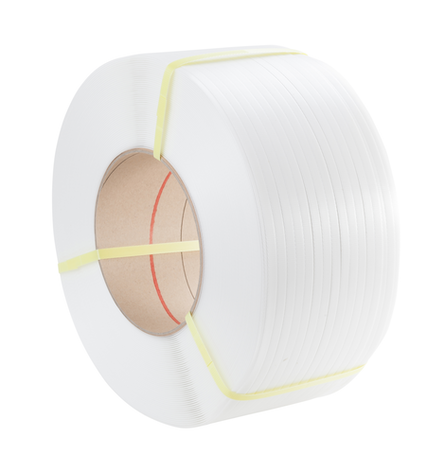 TENSO 12 x 0.55mm x 3000m White PP Strapping (200/190)