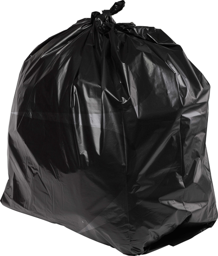 PRO-SAC 450/732 x 990mm Light Duty Black Refuse Sacks