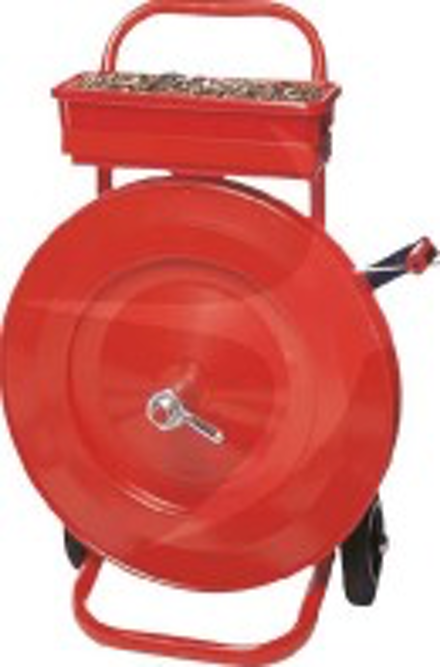Mobile Dispenser for Oscillated Wound Steel Strapping