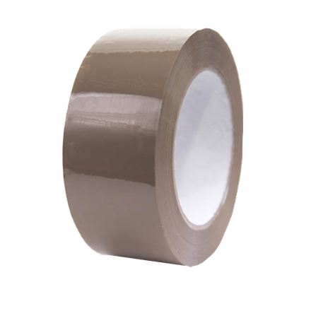 50mm x 66m Heavy Duty Brown Vinyl Tape