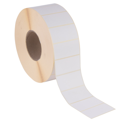 38 x 38mm Plain White Thermal Direct Printer Labels