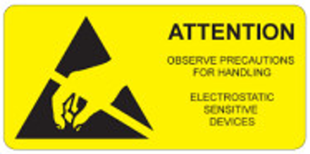 "35 x 80mm Large ""ESD Warning"" Labels"