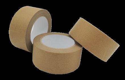 "50mm x 50mtr Kraft Self Adhesive Paper Tape (3"" Core)"
