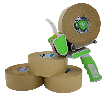 SUPATAK 50mm Silent Tape Dispenser with Retractable Blade
