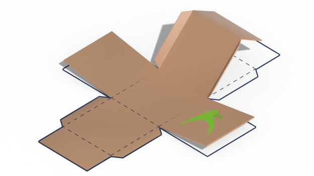 Box cut-out outline