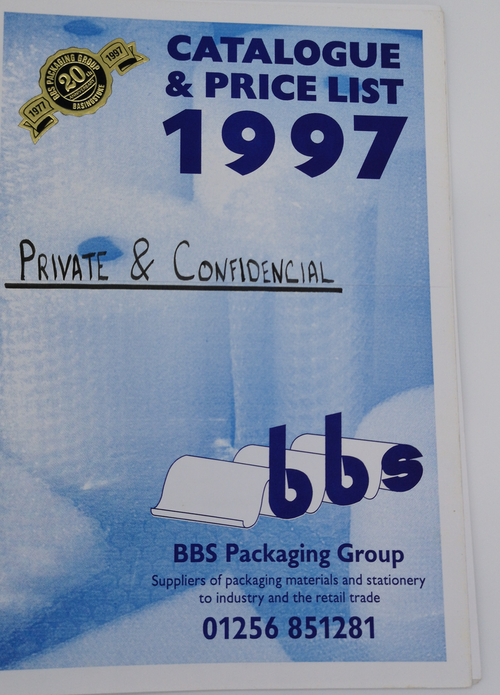 Catalogue and price list 1997